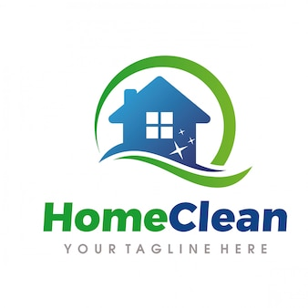 Услуги по уборке и уборке дома logo