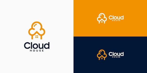 Home cloud data logo design