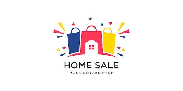 Home combination bag logo design