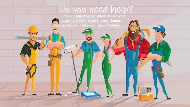 Home construction or repair service vector