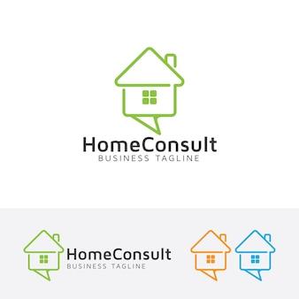 ホームコンサルティングのロゴテンプレート
