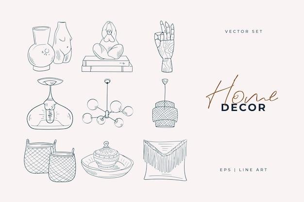 Рисование линии домашнего декора