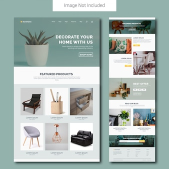 Home decor service landing page template