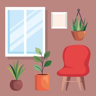 家の装飾アイコンセット Premiumベクター