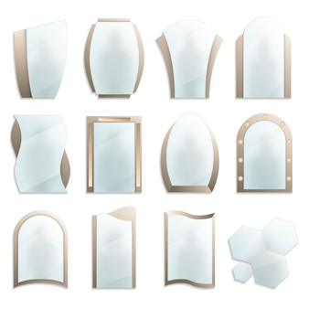Home decorative wall mirrors set