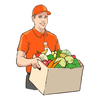 Home delivery man service