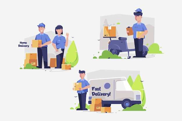Home delivery worker collection