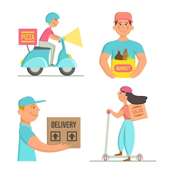 Home delivery workers collection