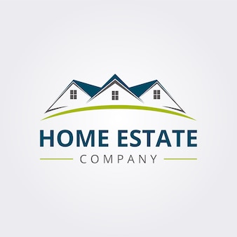 Home estate logo icon with modern style