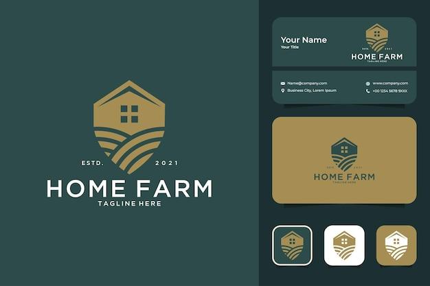 Дизайн логотипа домашней фермы и визитная карточка