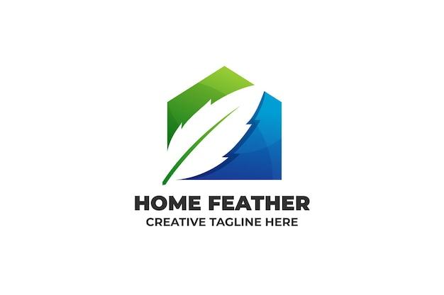 ホームフェザー自然の建物のロゴ
