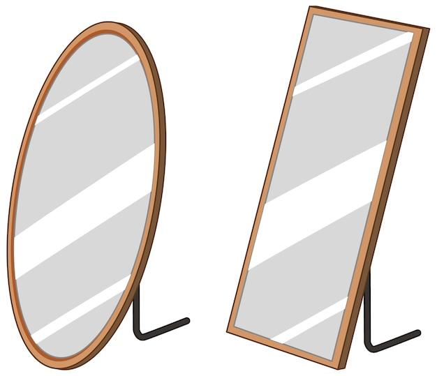 Specchio del pavimento domestico isolato su priorità bassa bianca