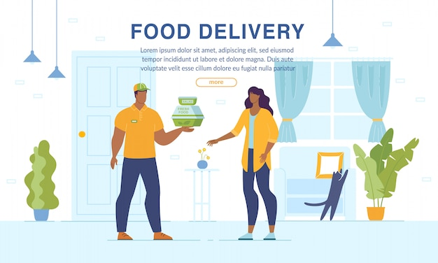 Home food delivery online ordering service webpage