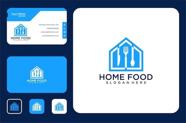 Дизайн логотипа домашней еды и визитная карточка