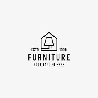 Home furniture flat style design symbol logo illustration   template