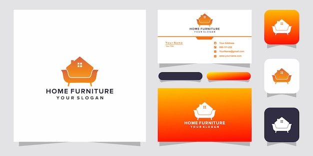Home furniture logo and business card