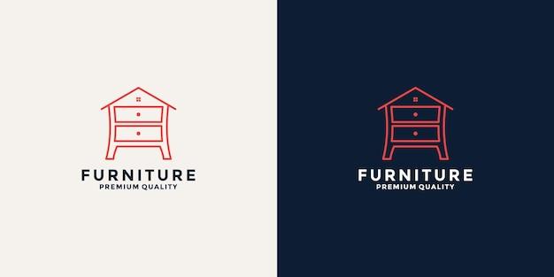 Home furniture logo design template