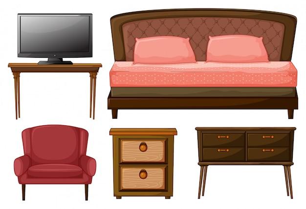 家庭用家具およびテレビ