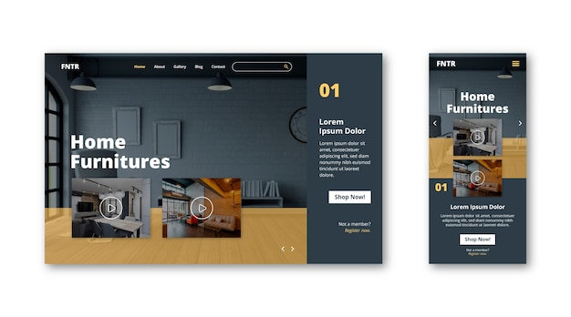 Home furnitures landing page tempalte