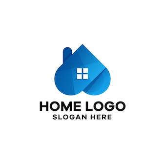 ホームグラデーションロゴテンプレート