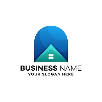 Home gradient logo template