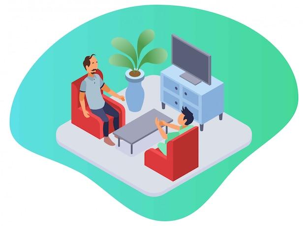 Медицинское обслуживание на дому лечение человека в гостиной