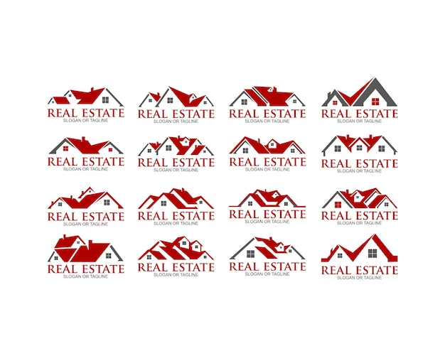 Home house real estate residential building property logo
