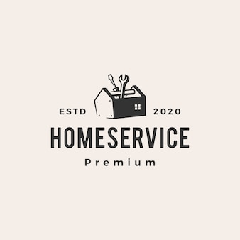 Home house service hipster vintage logo  icon illustration