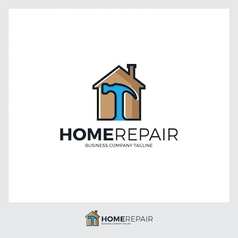 Home and hummer logo illustration template