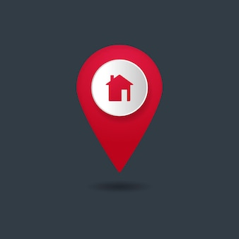 Home icon pin isolated