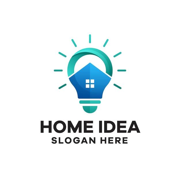 ホームアイデアグラデーションカラフルなロゴデザイン