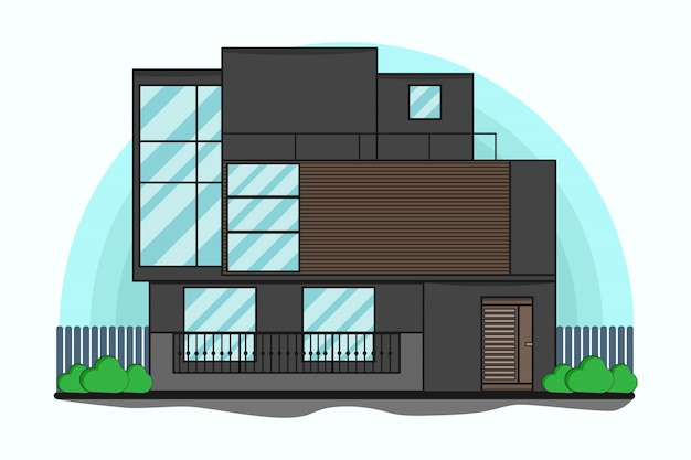 Home illustration flat style