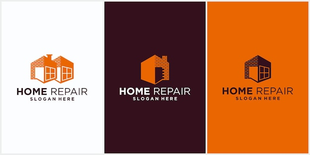 住宅リフォーム会社のロゴのテンプレート 不動産