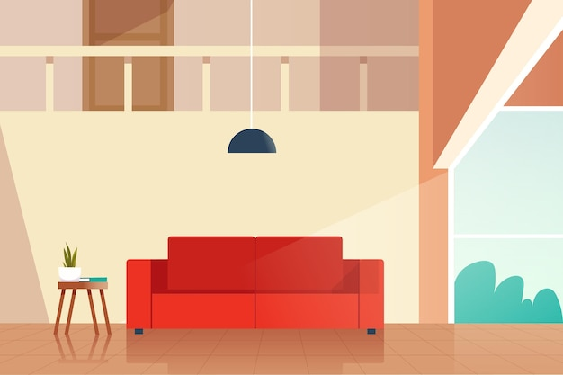 Home interior background concept
