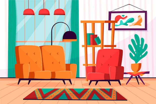 Home interior background for conference
