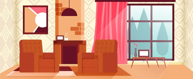 Домашний интерьер фон для конференц-связи