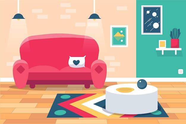 Фон домашнего интерьера для видеоконференцсвязи
