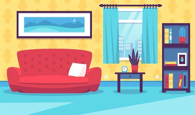 Домашний интерьер - фон для видеоконференцсвязи