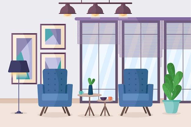 ホームインテリア-ビデオ会議の背景