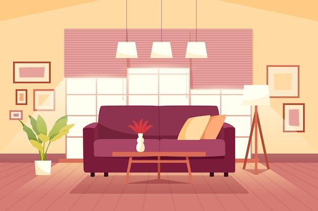 Домашний интерьер фон для видеоконференций