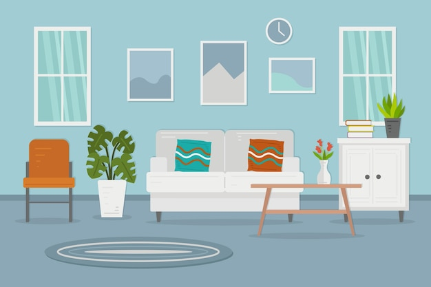 Home interior background for video conference