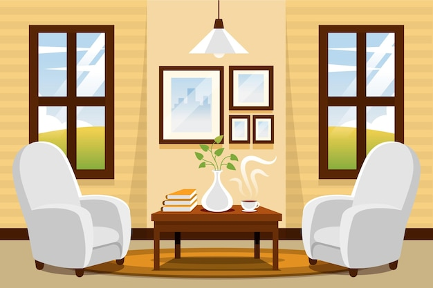 Home interior background video conference