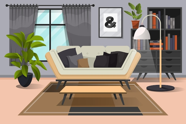 Home interior background for video conferencing