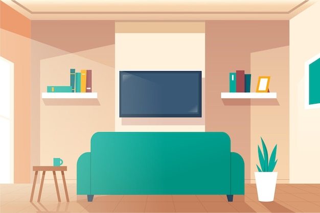 Home interior background