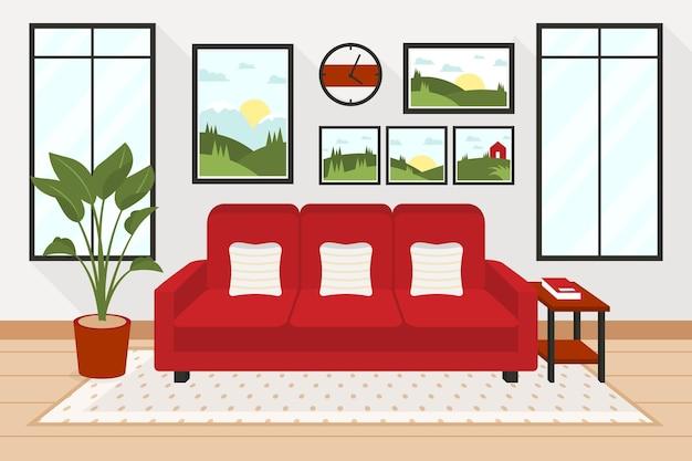 Домашние интерьерные обои для видеоконференций