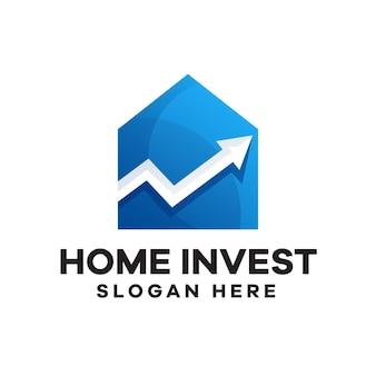 ホーム投資のグラデーションロゴデザイン