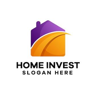ホーム投資グラデーションロゴデザイン