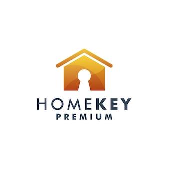 Home key logo template house icon design logotype vector 3