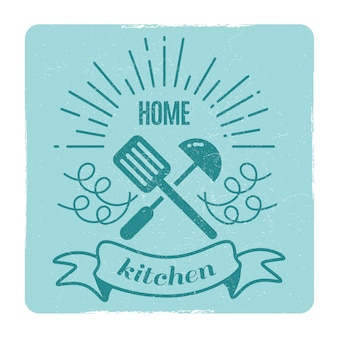 Home kitchen, home cooking label