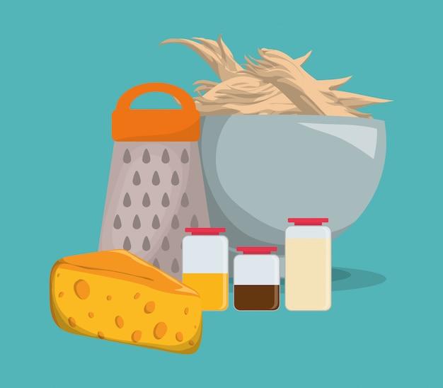 Home kitchen icons design